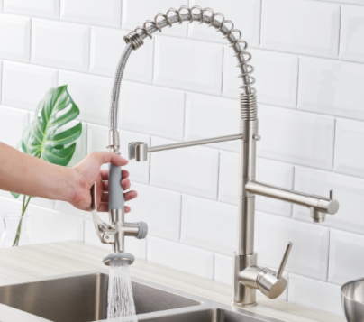 Fapully Commercial Pull Down Kitchen Sink Faucet