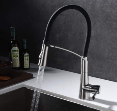 Single Lever Single Hole Swivel Spout Stainless Steel