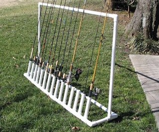 Vertical fishing rod holder