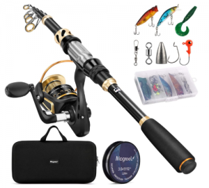 Magreel Telescopic Fishing Rod and Reel Combo Set